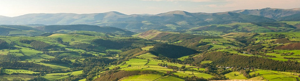 View of the Cambrian Mountains